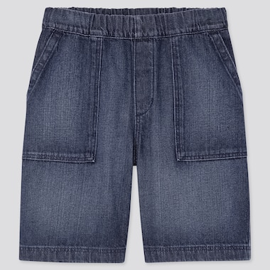 Kids Denim Easy Shorts, Blue, Medium