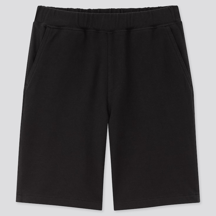 Kids Washed Jersey Easy Shorts, Black, Large