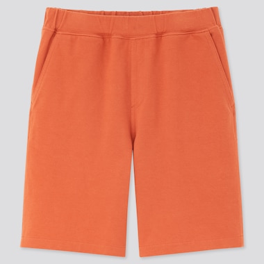 Kids Washed Jersey Easy Shorts, Orange, Medium