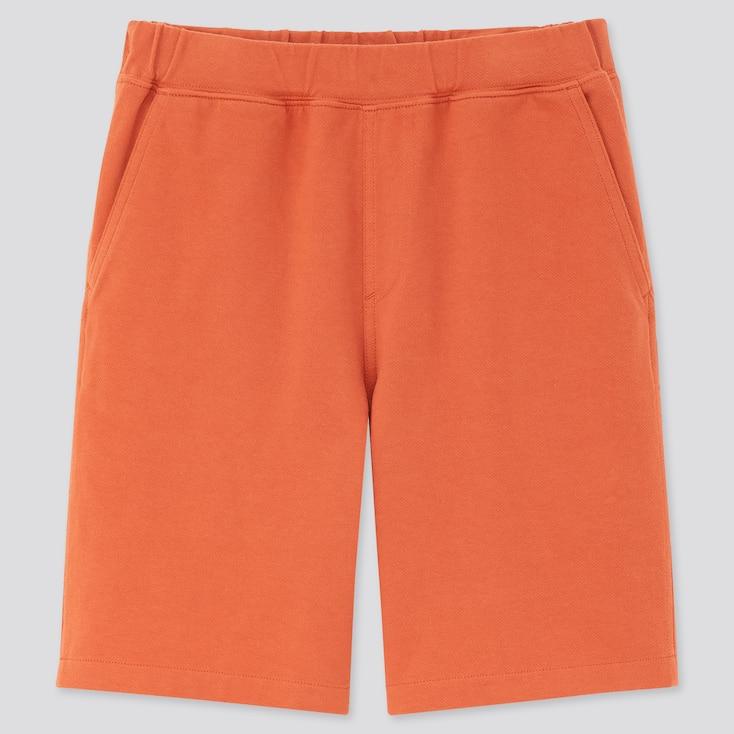 Kids Washed Jersey Easy Shorts, Orange, Large