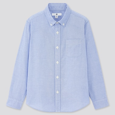 Kids Oxford Long-Sleeve Shirt (Online Exclusive), Blue, Medium