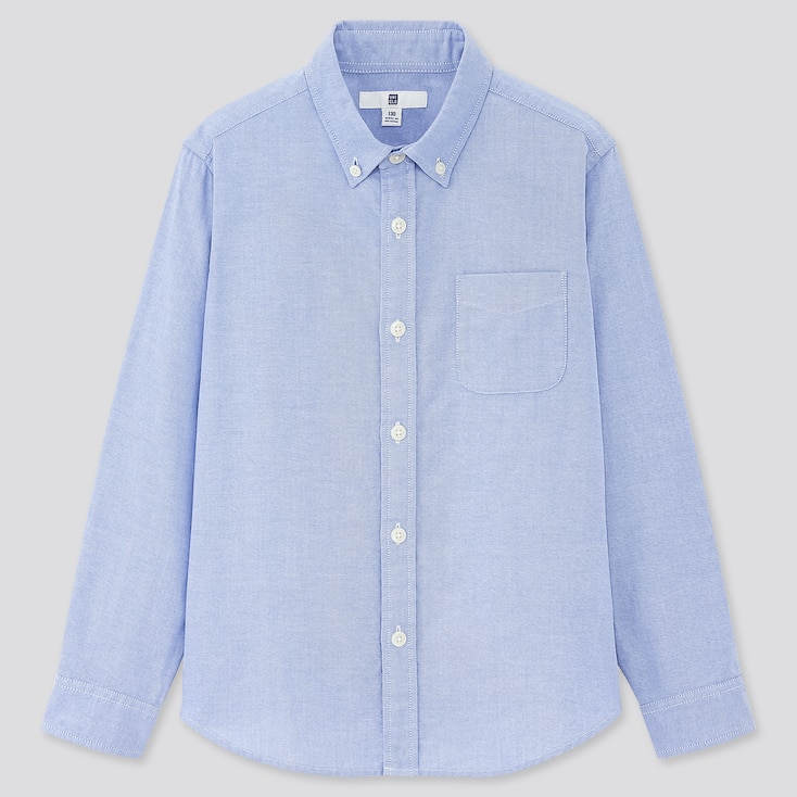 Kids Oxford Long-Sleeve Shirt (Online Exclusive), Blue, Large