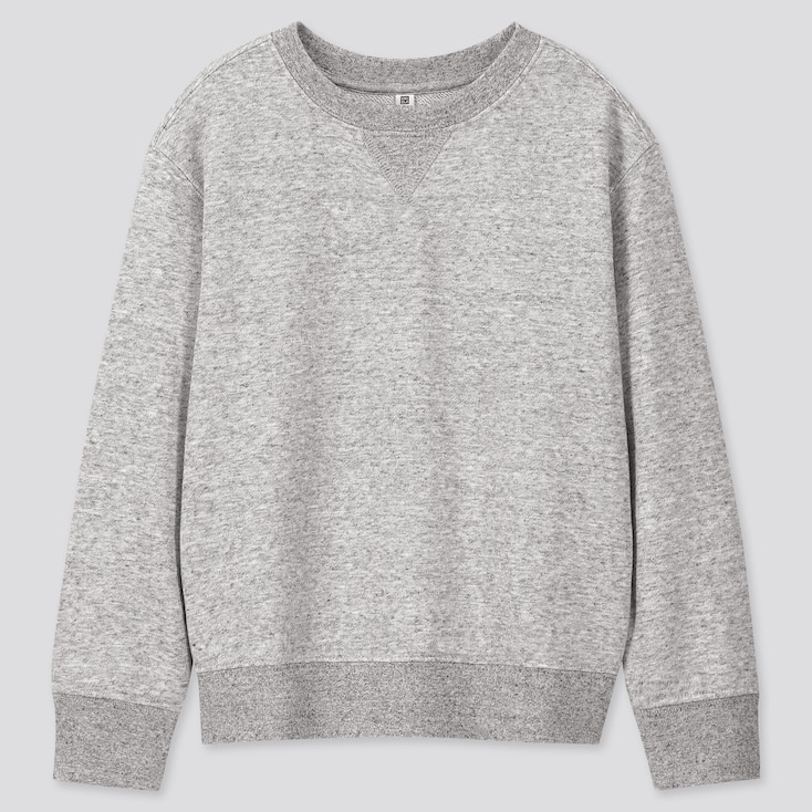 Kids Sweatshirt, Gray, Large