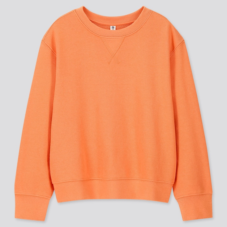 Kids Sweatshirt, Orange, Large