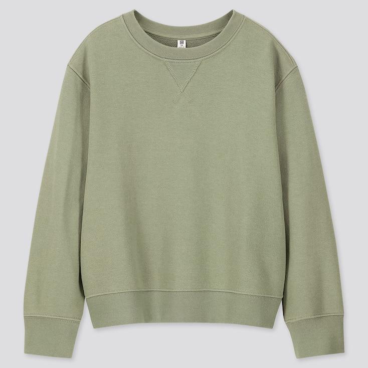 Kids Sweatshirt, Green, Large