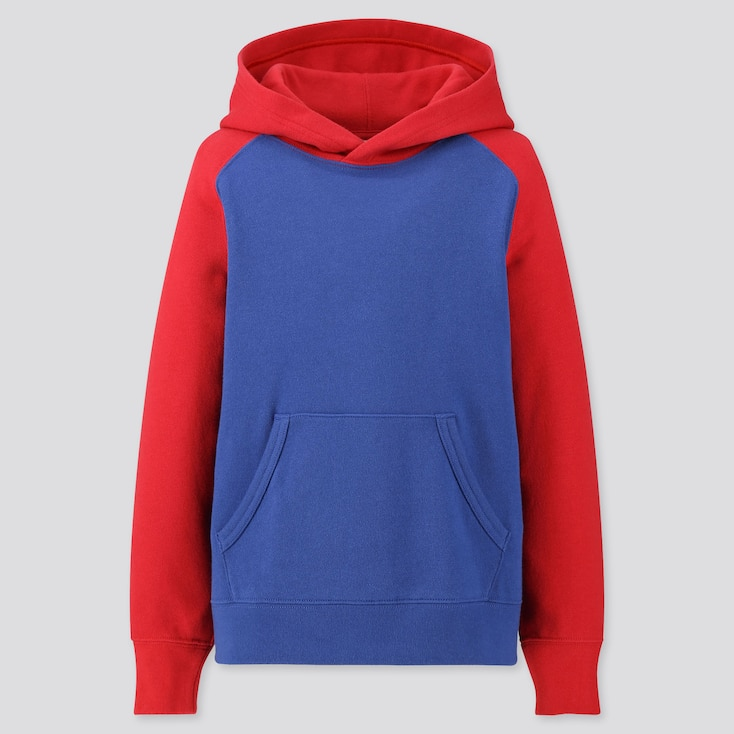 Kids Sweat Pullover Hoodie, Red, Large