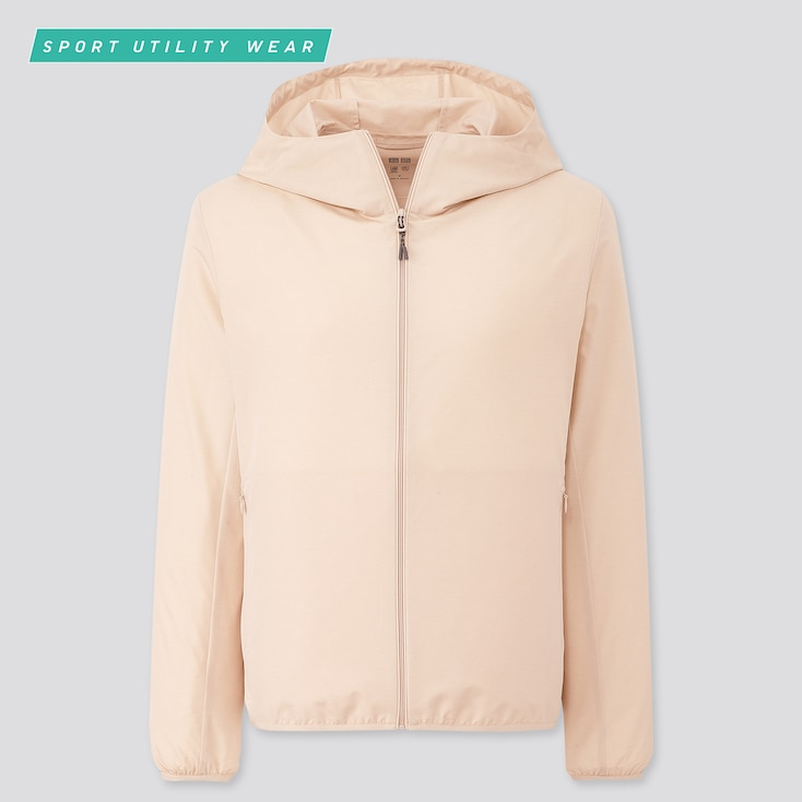 Women Pocketable Uv Cut Parka, Beige, Large