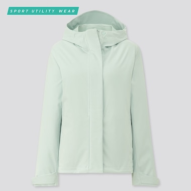 Women Blocktech Parka, Light Green, Medium
