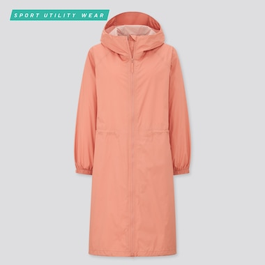 Women Light Blocktech Coat, Pink, Medium