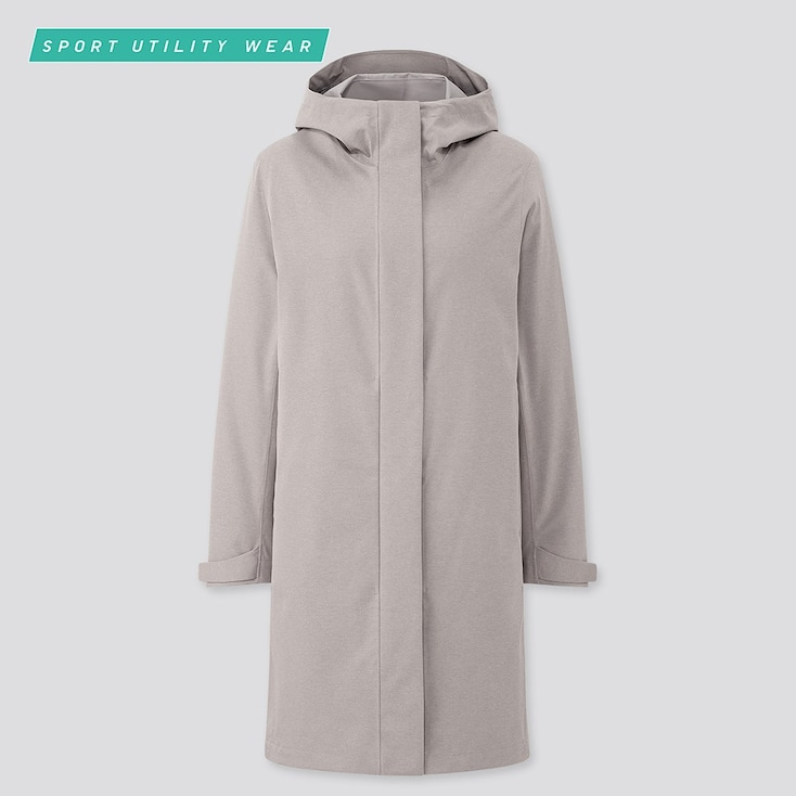 Women Blocktech Coat, Gray, Large
