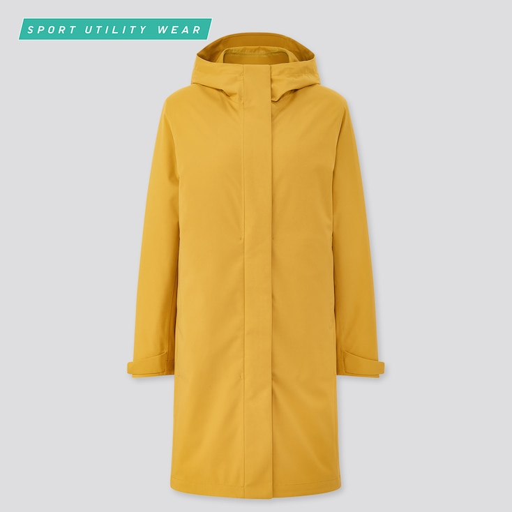 Women Blocktech Coat, Yellow, Large