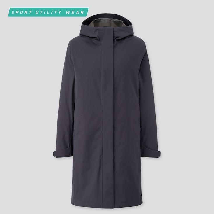 Women Blocktech Coat, Navy, Large