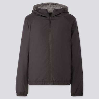 Women Reversible Parka, Black, Medium