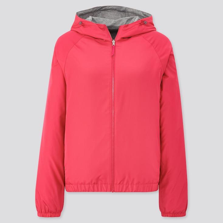 Women Reversible Parka, Pink, Large