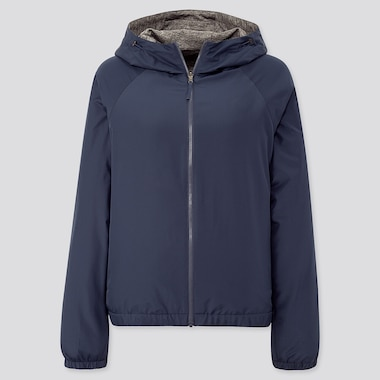 Women Reversible Parka, Navy, Medium