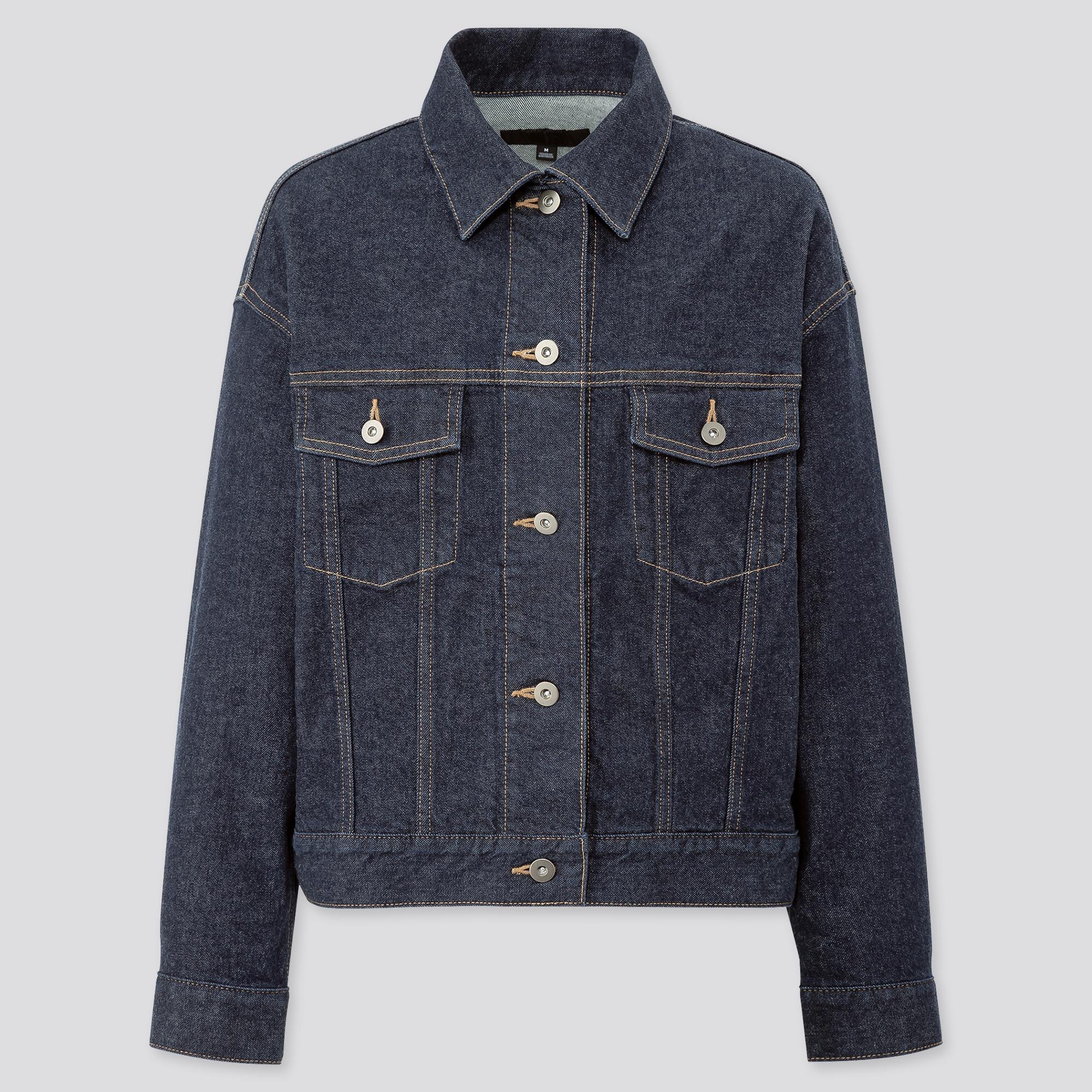 women denim oversized jacket