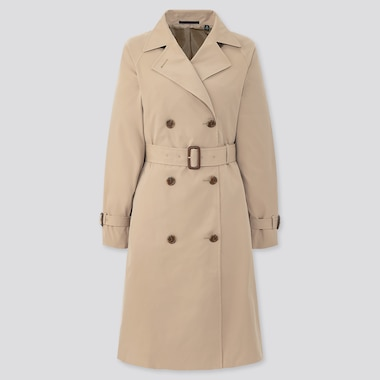 Women Relax Trench Coat, Beige, Medium