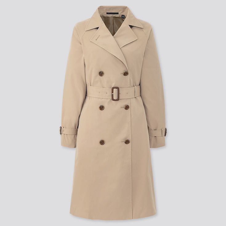 Women Relax Trench Coat, Beige, Large