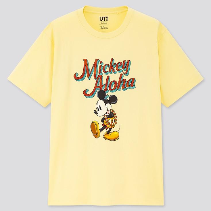 Mickey Aloha Ut (Short-Sleeve Graphic T-Shirt), Yellow, Large