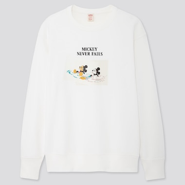 DISNEY STORIES LONG-SLEEVE SWEATSHIRT, OFF WHITE, medium