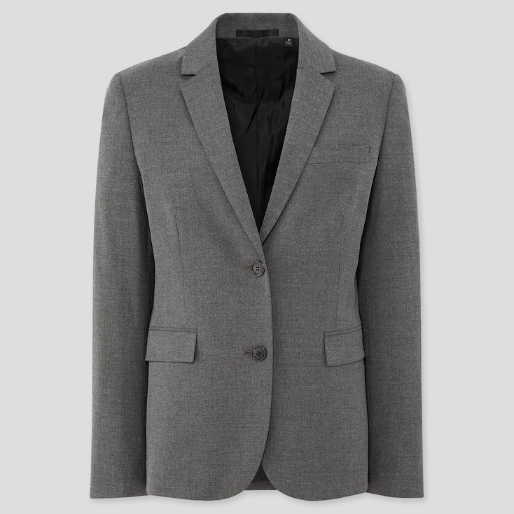 Women Stretch Jacket (Online Exclusive), Gray, Large