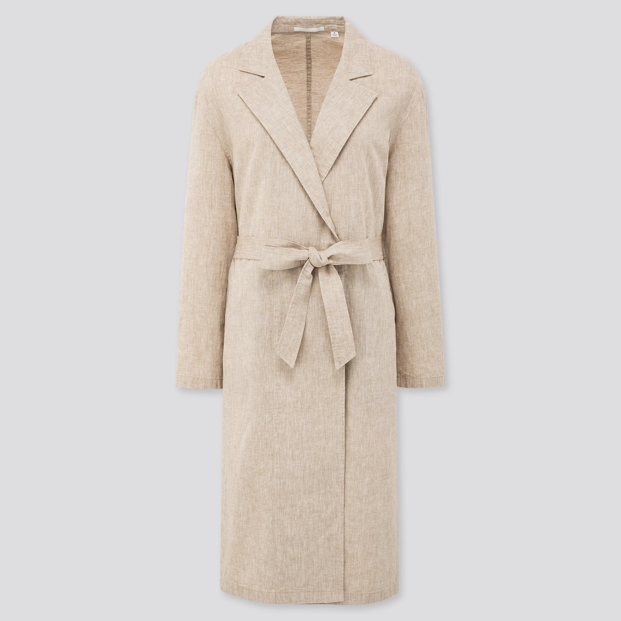 Women Linen Cotton Blend Coat