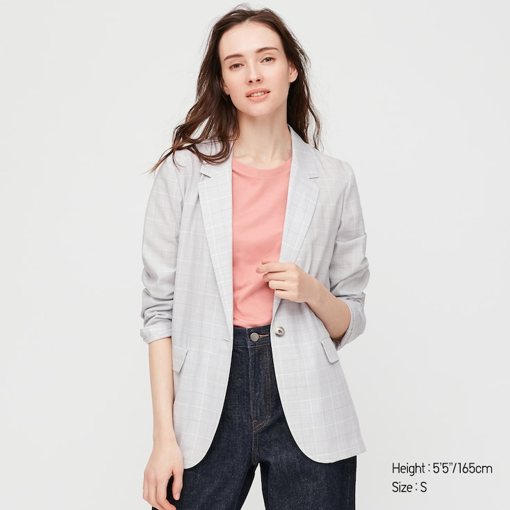 Women Light Shirt Jacket, Gray, Large