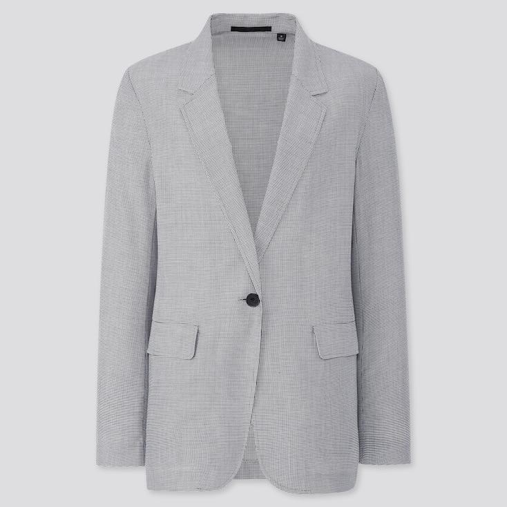 Women Light Shirt Jacket, Dark Gray, Large