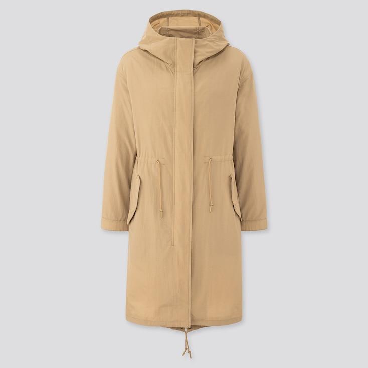 Women Padded Liner Mods Coat, Beige, Large