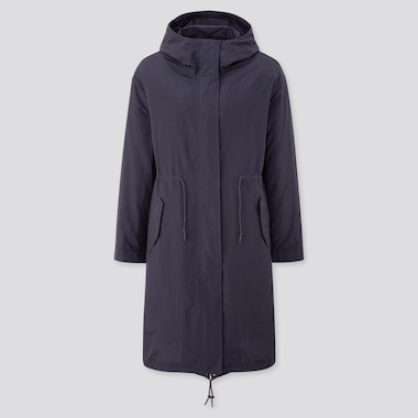 Women Padded Liner Mods Coat, Navy, Medium