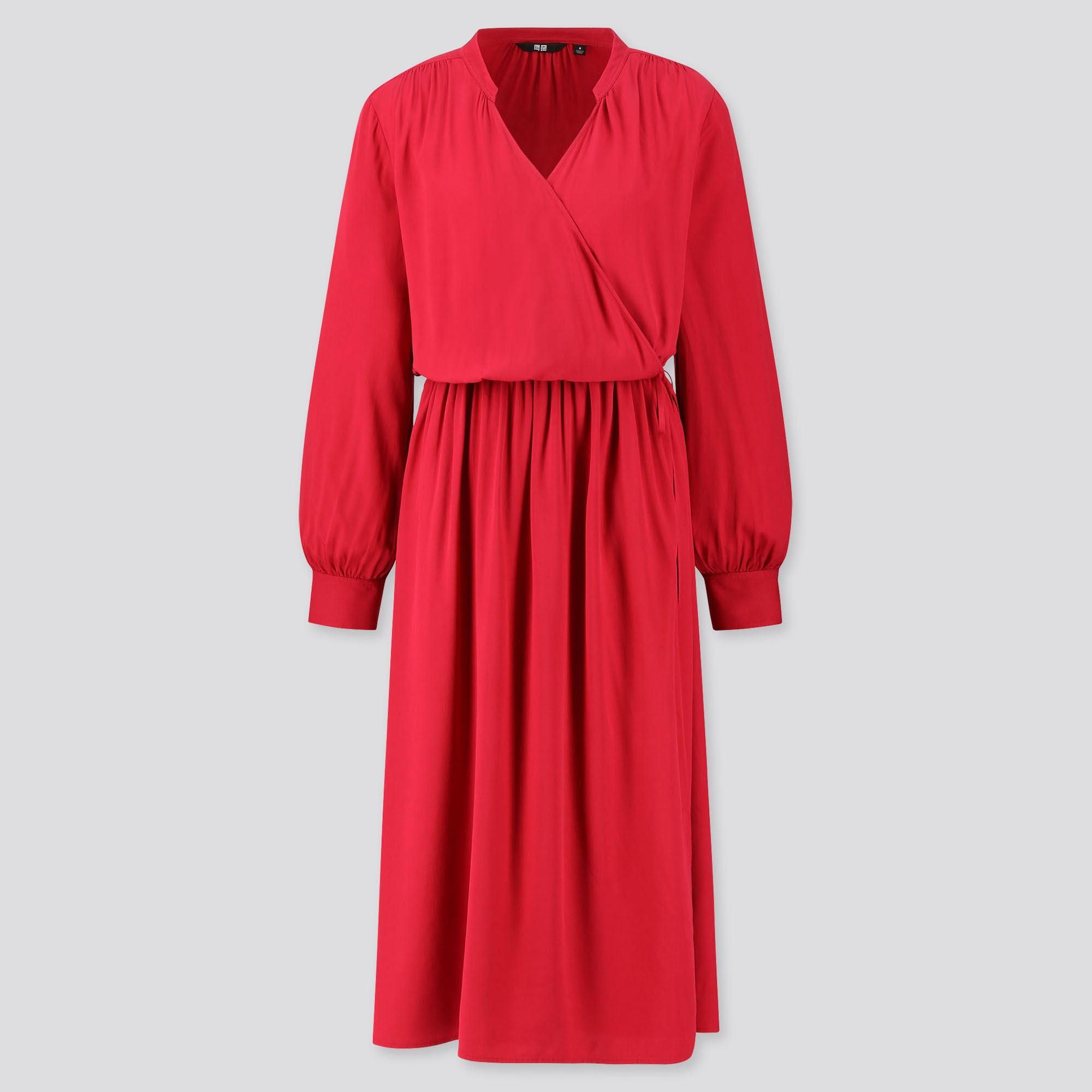 Women Rayon Long Sleeved Wrap Dress