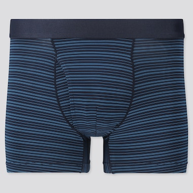 Men Airism Striped Boxer Briefs, Blue, Medium