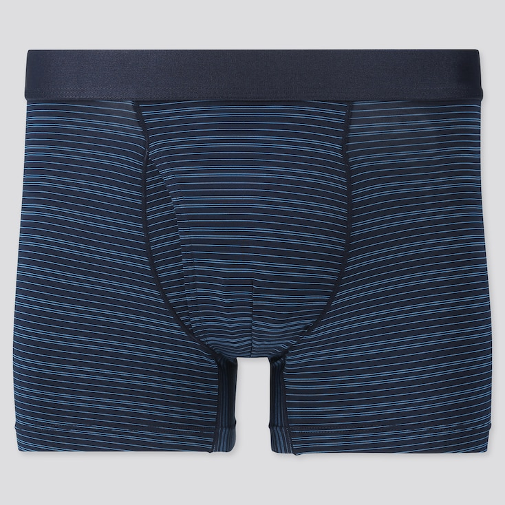 Men Airism Striped Boxer Briefs, Blue, Large