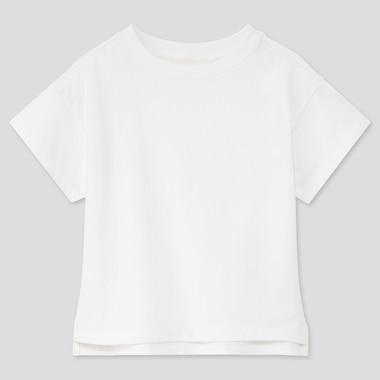 Girls Relaxed Fit Short-Sleeve T-Shirt, White, Medium