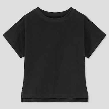 Girls Relaxed Fit Short-Sleeve T-Shirt, Black, Medium