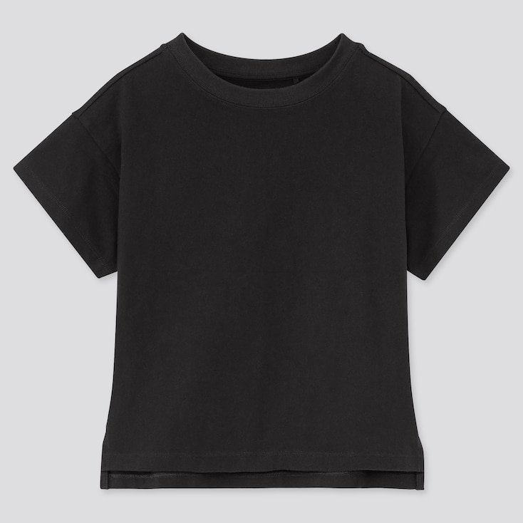 Girls Relaxed Fit Short-Sleeve T-Shirt, Black, Large