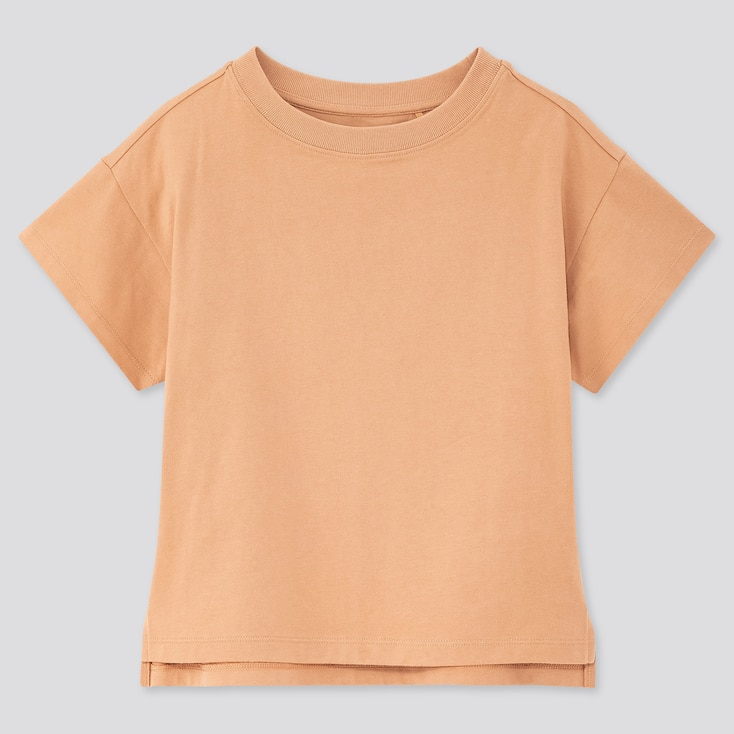 Girls Relaxed Fit Short-Sleeve T-Shirt, Brown, Large