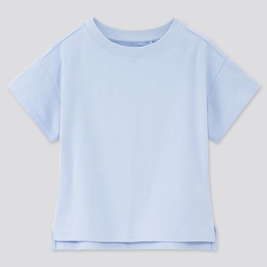 Girls Relaxed Fit Short-Sleeve T-Shirt, Blue, Medium