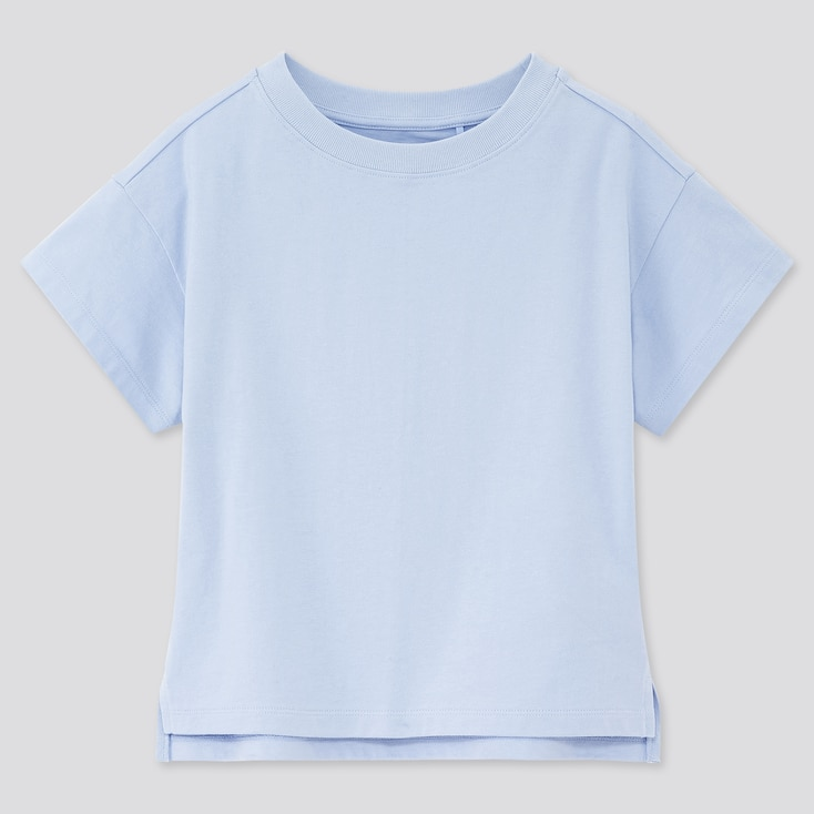 Girls Relaxed Fit Short-Sleeve T-Shirt, Blue, Large