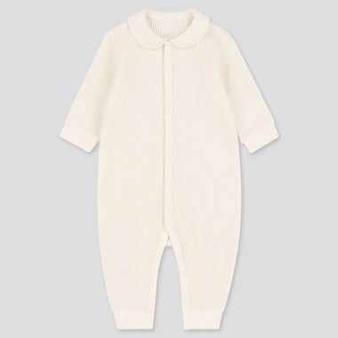 Babies Newborn Waffle One Piece Long Sleeved Outfit