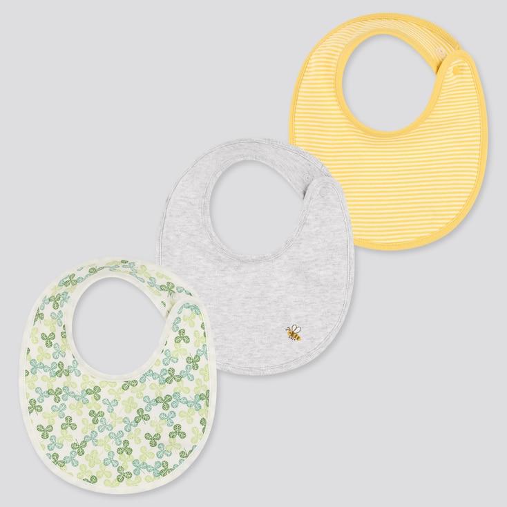 Baby Bib (Set Of 3), Green, Large