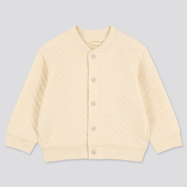 Toddler Quilted Blouson, Off White, Large