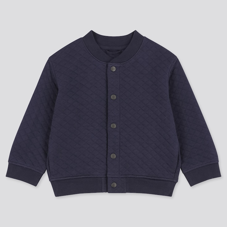 Toddler Quilted Blouson, Navy, Large