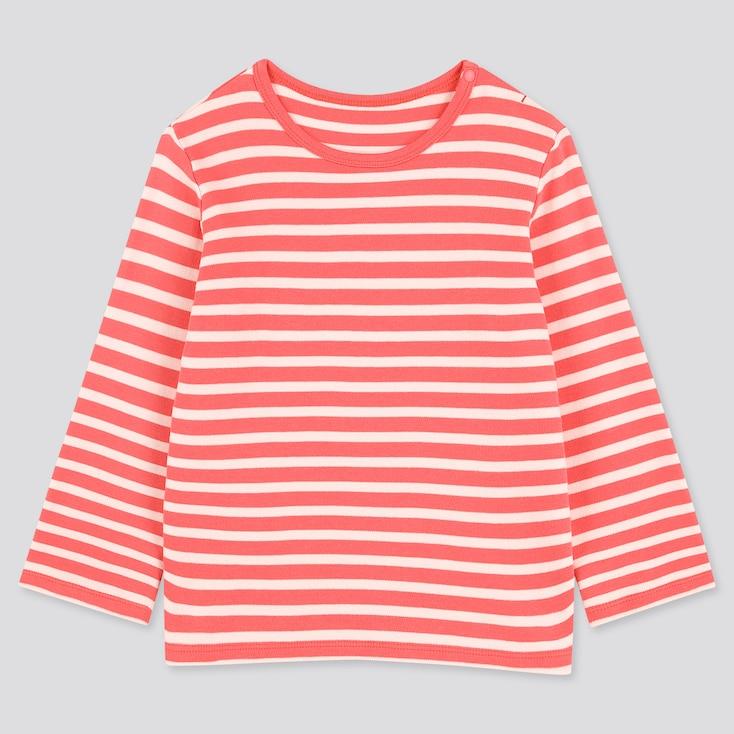 Toddler Crew Neck Long-Sleeve T-Shirt, Pink, Large