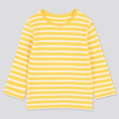 T-Shirt A Righe Girocollo Maniche Lunghe Neonato Bambino
