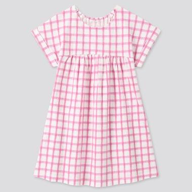 Toddler Short-Sleeve Dress, Pink, Medium