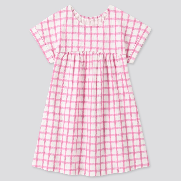 Toddler Short-Sleeve Dress, Pink, Large