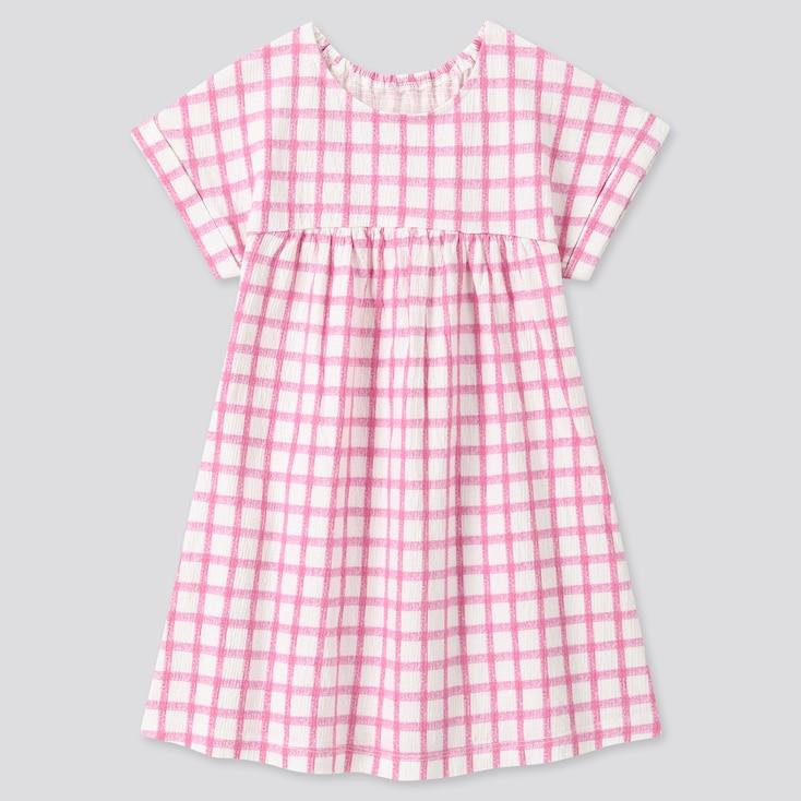 Toddler Short-Sleeve Dress, Pink, Large