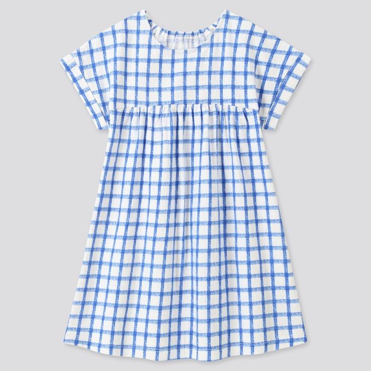 Toddler Short-Sleeve Dress, Blue, Large