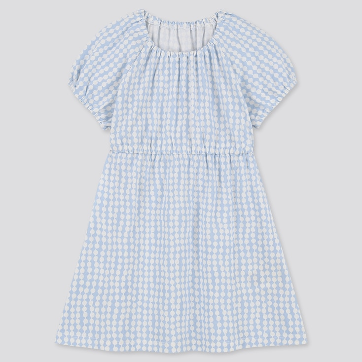 Toddler Finlayson Short-Sleeve Baby Dress, Blue, Large